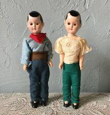 """2 Vintage Plastic Sleepy Eyes Dolls 7 1/2"""""""