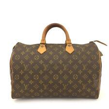 100% Authentic Louis Vuitton Monogram Speedy 35 Boston Travel Hand bag /60462