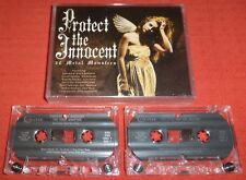 PROTECT THE INNOCENT -RARE UK CASSETTE TAPE X 2 - VARIOUS - 30 METAL MONSTERS