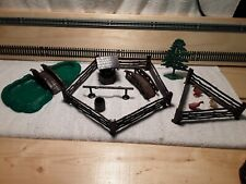VINTAGE Plasticville O scale Pond with bridge and accessories (HO145120)