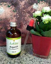 Bio Olio di argan 100 ml PIPETTA spremuto a freddo,KBA ,cura della pelle LAVITA