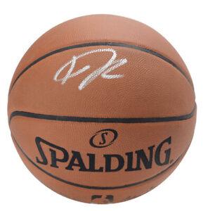 Giannis Antetokounmpo Silver Signed Spalding Game Replica NBA Basketball COA!!