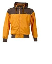 Surface Windjammer Mens Cycling Hooded Jacket Orange Brown Windproof Small