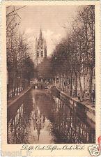 Pays-Bas - cpa - DELFT - Oude Delft en Oude Kerk
