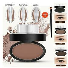 Eyebrow Stamp Cosmetic Definition Palette Makeup Natural Powder Brow Brown