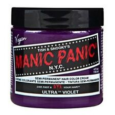 "NEW MANIC PANIC ""ULTRA VIOLET"" CLASSIC SEMI-PERMANENT VEGAN HAIR DYE COLOR 4 OZ"