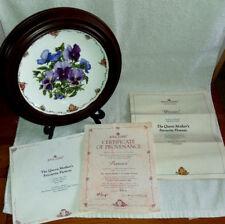 """Royal Albert Piatto """"PANSIES's di Anne Schofield & Van hygan & SMYTHE Surround"""