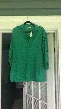 NWT Anthropologie Emerald Blouse XS