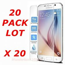 20x Wholesale Lot Tempered Glass Screen Protector for Samsung Galaxy S6