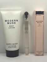 2pc Estee Lauder MODERN MUSE 0.1oz / 2.9ml EDP VIAL, 1oz / 30ml Body Lotion NEW