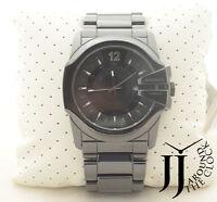 New Diesel Advanced Men's Oversized Black Ceramic Bracelet Date Watch DZ1516
