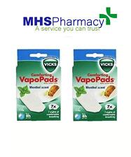 2 x 7 Vicks Comforting Soothing Menthol VapoPads