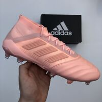 ADIDAS PREDATOR 18.1 FG LEATHER PINK FOOTBALL BOOTS (D96601) SIZE UK10/US10.5