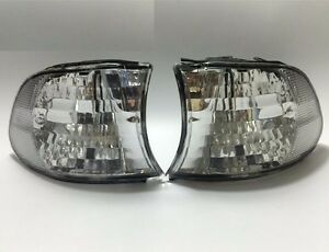 Pair Front Corner Turn Signal Clear lamp Light for BMW 7 99-01 E38 LCI Facelift