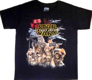 Star Wars The Force Awakens t-shirt 4-5 XS 6-7 S 8 M 10-12 L New Childs Tee