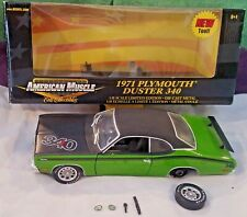 1971 Plymouth DUSTER 340 GREEN - ERTL -AMERICAN MUSCLE 1:18 Scale #36673