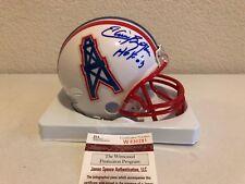 f427be2e0 Houston Oilers Mini Football Helmet signed by Elvin Bethea w/ Beckett COA