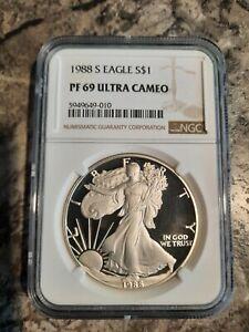 1988 S Silver Eagle Pf 69