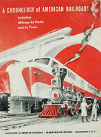 A Chronology of Ameircan Railroads Oct 1953 Vtg Train Transportation Booklet