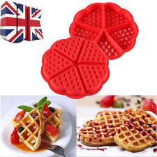 UK Silicone Round Waffles Pan Cake Baking Mould Mold Waffle Tray Kitchen Tools
