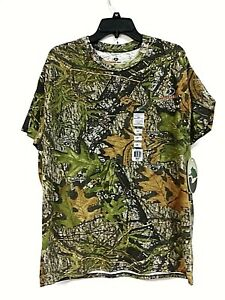 Mossy Oak Men's Short-Sleeve Camo Obsession Cotton Tee Shirt, Size L - 0J_45