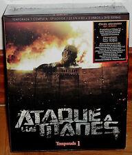 ATAQUE A LOS TITANES 1ª TEMPORADA COMPLETA NUEVO 6 BLU-RAY+DVD EXTRAS+2 LIBROS