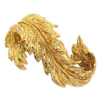 TIFFANY & Co. BROOCH 18K Yellow Gold Diamond Cut Leaf Pin - Estate Jewelry