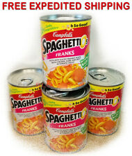 Campbell's SPAGHETTIOS FRANKS Natural Flavored Kitchen Instant Food (4 Cans)