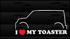 I Heart My Toaster Love Toyata Scion XB BB Car Funny Sticker Decal Box
