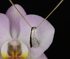 Anhänger mit Kette  - Gold 333 Diamanten   20,5 x 8 mm  Länge 42 cm