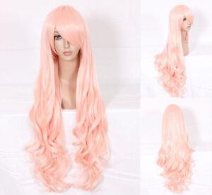 Ladieshair Cosplay Wig Perücke pink 80cm lockig Macross Series Ciel Karneval A7T