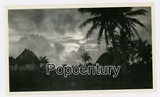 Pre WW2 1937 Guam Sunset Palm Trees Vintage Photograph Photo