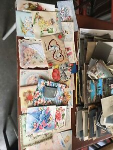 lot of vintage greeting cards from the 30s 40s and 50s