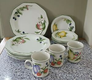 Churchill 'Victorian Orchard' Plates, Bowls and Mugs.       Suffolk.