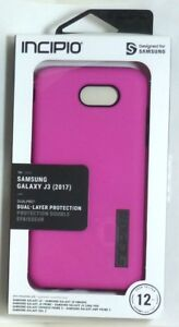 for Samsung Galaxy J3 (2017) Case, Incipio DualPro, Soft-touch finish, Pink