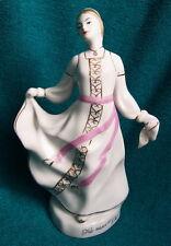 "Vintage 7.5""tall Soviet Russian Baranovka porcelain dancing woman rare figurine"