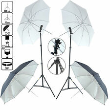 DynaSun KUBSF Kit Estudio Iluminador Soporte Trípode Adaptador Flash 2x Paraguas