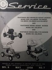 Sears Craftsman Amf 1958 Riding Mower Amp Walk Behind Mower Service Repair Manual