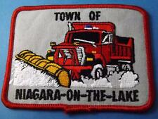 SNOW PLOW DUMP TRUCK NIAGARA ON THE LAKE PATCH DRIVER TRUCKING VINTAGE COLLECTOR