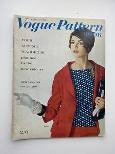 VOGUE MAGAZINE PATTERN BOOK 1961 August September Free Gift wrap FDast Disptach
