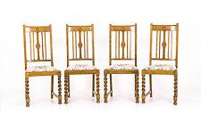 B423 Four Antique Barley Twist Oak Dining Chairs