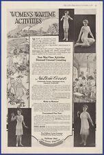 Vintage 1918 NU BONE Corsets Women's Garments Lingerie Fashion Ephemera Print Ad