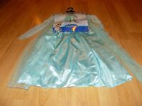 Size Small 4-6X Disney Frozen Queen Elsa Halloween Costume Dress New