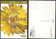 1999 ITALIA CARTOLINA PAVIA ARTE FLORA - DA2