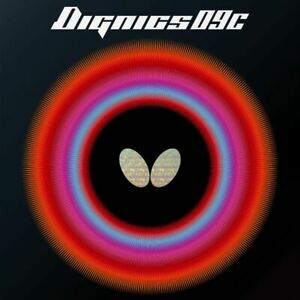 Butterfly Dignics 09C Table Tennis Ping Pong Rubber Black/Red [1.9mm/2.1mm]