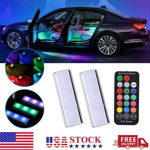RGB LED Car Interior Decorative Atmosphere Lamp Ambient Floor Light Accessories