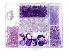 Bead Kit Kids Jewelry Kit Purple Craft Variety Beads Smiley kit bead box