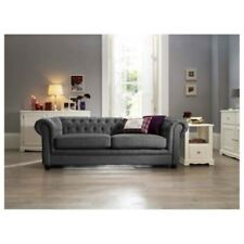 New quality Chesterfield sofa 3 + 2 seater sofa in grey fabric, cheap