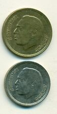 2 DIFFERENT COINS from MOROCCO - 20 & 50 SANTIMAT (BOTH DATING 1974)