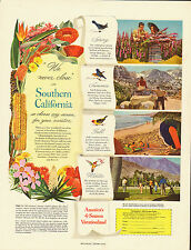 """1949 Vintage ad for """"We never close in Southern California"""" Travel ad (041913)"""